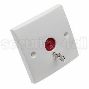 Buton de panica cu retinere si cheie semi-ingropat simplu, PB-86