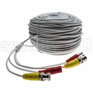 Cablu CCTV 50m, coaxial semnal video + alimentare cu conectori, 50m BNC cable
