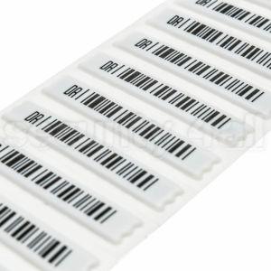 Etichete antifurt adezive acustomagnetice cu cod de bare fals, T3 DR label