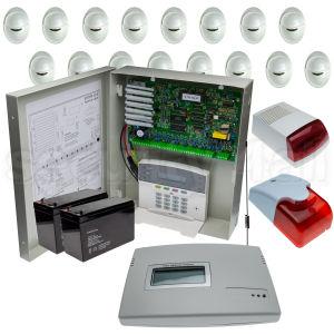 Sistem complet alarma 16 senzori de miscare, comunicator GSM