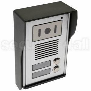 Post exterior videointerfon cu infrarosu, antivandal pentru 2 apartamente (2 butoane), VDP-218