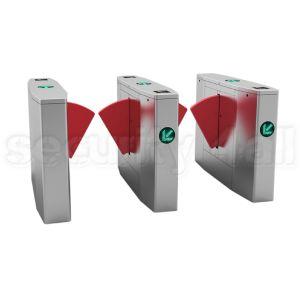 Sistem turnicheti electromecanici inox bidirectionali red flaps, S4T238FL-YB
