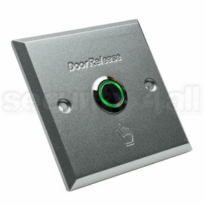 Buton control acces cu LED aluminiu patrat ingropat, ACB-1L