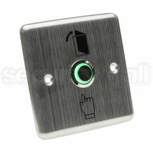 Buton control acces cu LED inox patrat ingropat, ACB-2SL