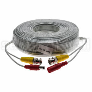 Cablu CCTV, coaxial semnal video, 40m, conectori BNC si alimentare, 40m BNC cable