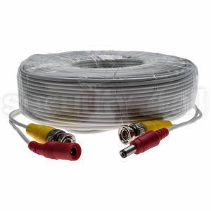Cablu CCTV, coaxial semnal video, 30m, conectori BNC si alimentare, 30m BNC cable