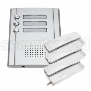Interfon lux, vila 3 apartamente,  post interior +exterior, cablare 2 fire, comanda zavor electromagnetic, AQ-889