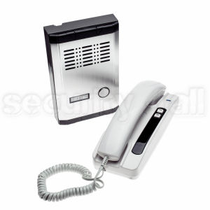 Interfon post interior+exterior, cablare 2 fire, comanda zavor electromagnetic, AIF-01+AOF-01