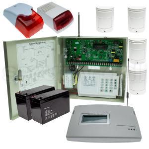 Sistem complet alarma wireless locuinta 4 senzori miscare infrarosu, comunicator GSM CA 816