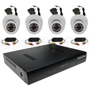 Kit complet supraveghere 4 camere interior cu DVR, cabluri de 10m si surse 12V DVRHD-46104