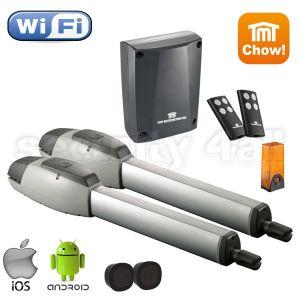 Kit complet automatizare porti batante 2 x 4m, 2 x 350KG, TMT Mastiff 400 Wi-Fi