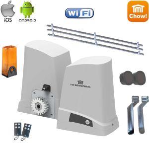 Kit automatizare poarta culisanta cu fotocelule, lampa si 3m cremaliera, Kit TMT Husky 1200 WiFi