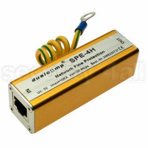 Modul protectie descarcari electrice pentru cablu UTP/FTP, 4 fire, conectori RJ45, SPE-4H
