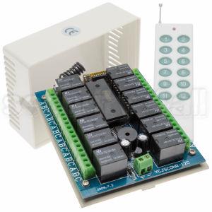 Receptor telecomanda radio 433 MHz, 12 relee , Receptor telecomanda RCON-12PC
