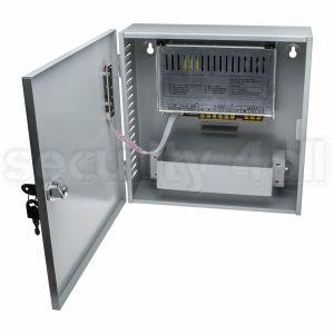 Sursa alimentare 12V 10A cu back-up, cutie metalica, 1 iesire, usa cu cheie, SMPS 1210-01