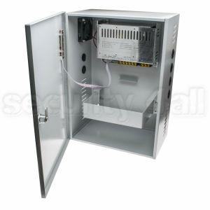 Sursa alimentare 12V 20A cu back-up, cutie metalica, 1 iesire, usa cu cheie, SMPS 1220-01