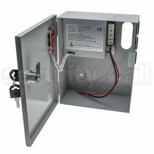 Sursa alimentare 12V 3A cu back-up in cutie metalica, 1 iesire, usa cu cheie, SMPS 1203-01
