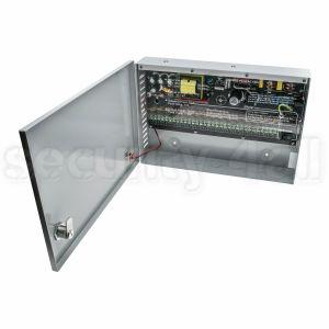 Sursa alimentare 12V 16A in cutie metalica, 16 iesiri pe sigurante, usa cu cheie, SMPS 12V 16A -C16