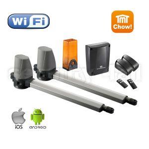 Kit automatizare porti batante TMT Terrier 200 WiFi, cu fotocelule si lampa semnalizare