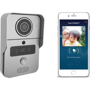 Videointerfon Wi-Fi color cu cititor de card sau cartela, acces internet, conectare smartphone, WX-02A